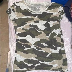 Camo t shirt from blue and cream